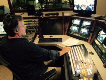 Control room in Broadcasting & Production Technology Program's studio
