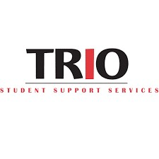"Image is a logo that reads ""Trio Student Support Services"" in black and red."