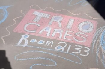 """TRIO Cares Room 2133"" Sign by Sarah Grissinger"